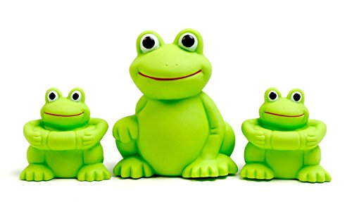Vital Baby Play 'n' Splash Rubber Family, Frogs, 2-Pack (6 Pieces)