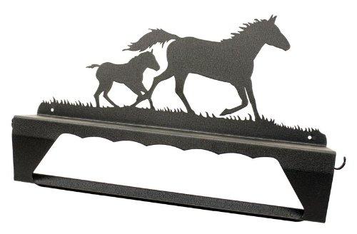 Mare & Foal Horse Towel Bar & Shelf