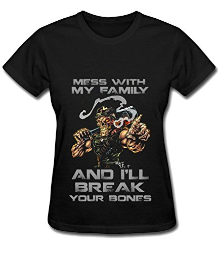 Lever High Neck (Break Time Women's Break Your Bones simple tee shirt black)