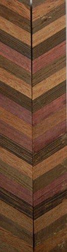 Walnut,Wenge,Padauk,Rose Lam (2 pc) Mini Knife Scales 3/16