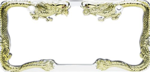 Pilot WL211CG Gold Chrome Dragon License Plate Frame, Air ...