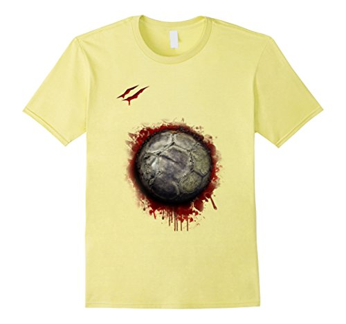 Mens zombie soccer player tshirt Christmas 2017 2XL Lemon