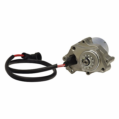 (AlveyTech 12 Volt Electric Starter Motor for 50cc - 150cc ATV & Dirt Bike Engines with 2 Mounting Holes)