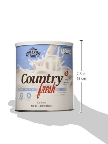 Augason Farms, Country Fresh 100% Real Instant Nonfat Dry Milk, 1lb 13oz (Pack of 6) by  (Image #3)