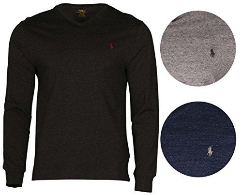 Polo-Ralph-Lauren-Mens-Long-Sleeve-V-Neck-Tshirt