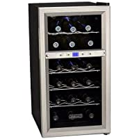 Koldfront 18 Bottle Dual Zone Freestanding Thermoelectric Wine Cooler