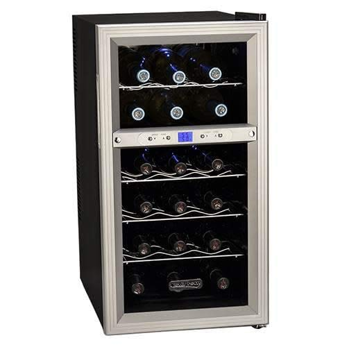 Koldfront TWR181ES 18 Bottle Dual Zone Freestanding Thermoelectric Wine Cooler ()