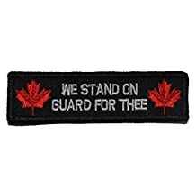 Canada National Anthem, Stand on Guard For Thee 1x3.75 inch Military Patch / Morale Velcro Patch - Multiple Colors (Black)