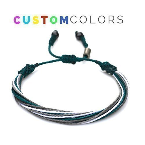 Custom String Bracelet for College, University, High School, Sports Team or Country Flag: Customized Colors and Sizes Nylon Cord Sports Fan Gift by Rumi Sumaq