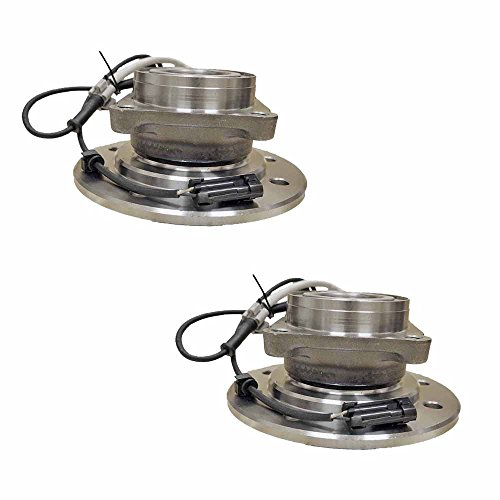 2 ) Hub Assembly Brand New Front Left And Right Side ( 8 Lug 4WD ) Fit 96 - 98 Chevy C3500, 96 - 99 K1500 K2500 SUBURBAN, 96 - 00 K3500 Pickup, 95 - 00 C35 (C3500 Front Left Brake)