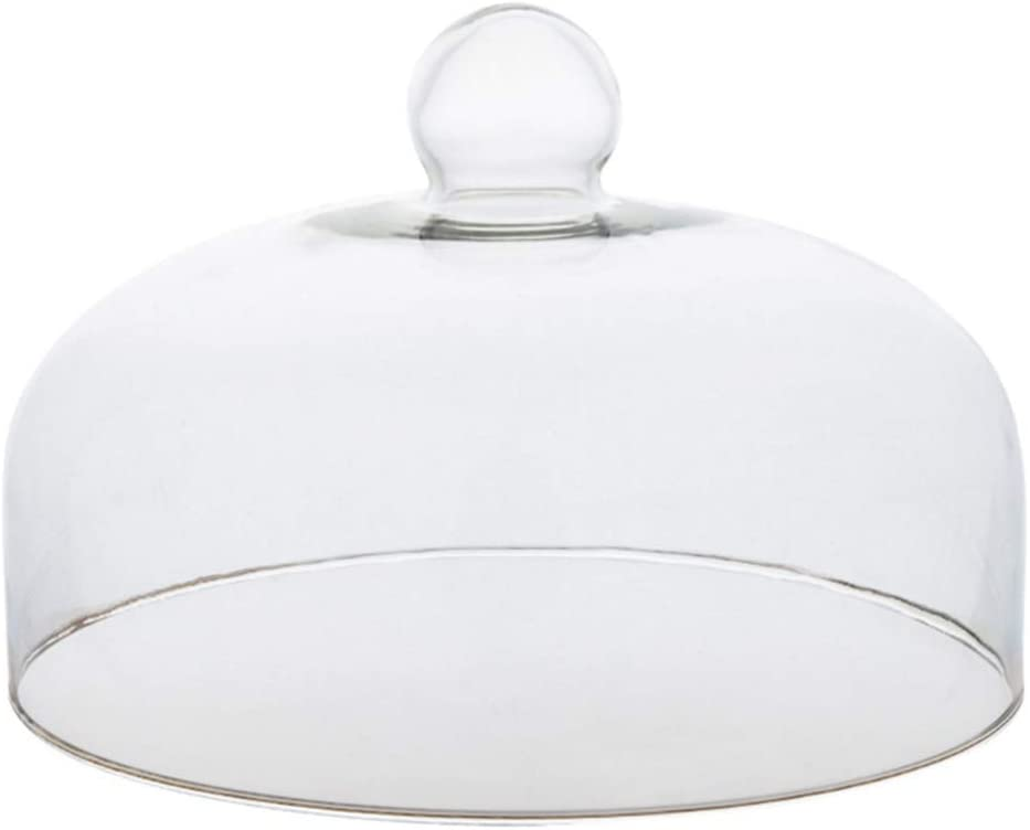 Hemoton Glass Round Cake Dome Cover Food Plate Lid Clear Protective Cover for Home Baking Cake Dessert Display Platter Cover 13x13x11cm