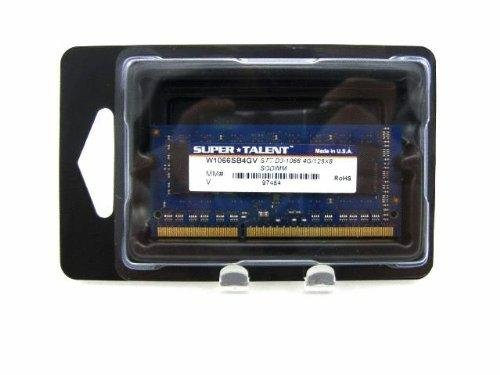 Super Talent DDR3-1066 SODIMM 4 GB Notebook Memory W1066SB4GV