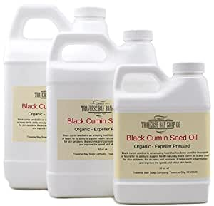Black Cumin Oil, black seed oil., Organic cold pressed Soap making supply (32 oz)