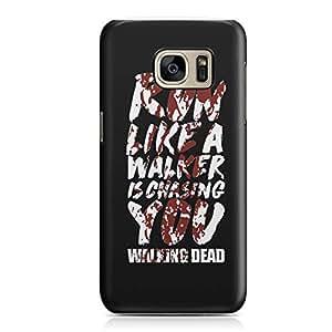 Samsung Galaxy S7Edge Case The Walking Dead Case Walker Chasing Tv Show Durable Hard Plastic Samsung Galaxy S7Edge Cover Wrap Around