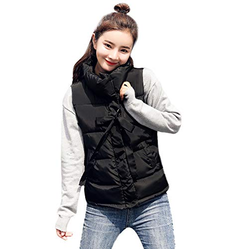 HYIRI Big Promotion Women Thick Sleeveless Short Slim Cotton-Padded Jackets Coats