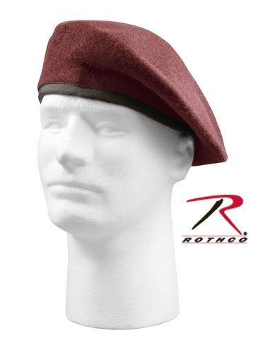 Rothco Gi Type Inspection Ready Beret, Maroon, 7.75