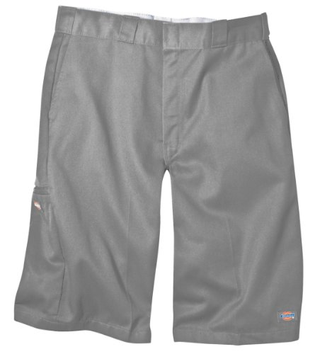 Short Cell - Dickies Men's 13 Inch Loose Fit Multi-Pocket Work Short, Silver, 38