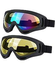 JTENG Gafas de Esquí con Anti-vaho y Protección UV para Deportes de Invierno Gafas de Snowboard para Hombres Mujeres y Juveniles para Esquí Nieve Skate