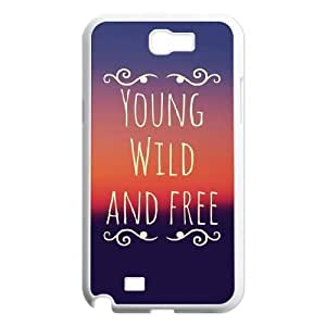 Personalized Durable Case Cover for Samsung Galaxy Note 2 N7100 with Brand New Design Young, wild & free WANGJING JINDA