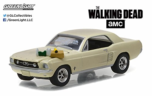 [Greenlight 1:64 Hollywood 15 1967 Ford Mustang Coupe Walking Dead Sophia Message] (1967 Ford Mustang Coupe)