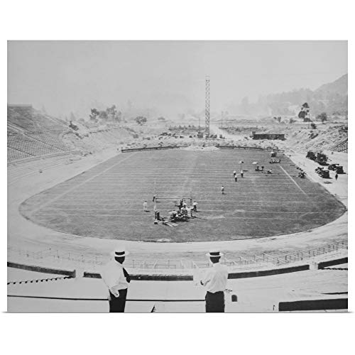 GREATBIGCANVAS Poster Print Entitled Construction of The Rose Bowl Stadium, Pasadena, California, 1928 by - Bowl California Rose Pasadena