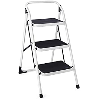 Delxo 3 Step Ladder Folding Step Stool 3 Step Ladders With