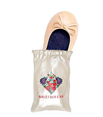 BALLEROLLAS Faltbare Ballerinas Afterparty Schuhe - Wechselschuhe, Beige, Gr. 37/38