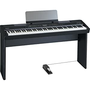 roland fp 7f bk 88 key digital piano black musical instruments. Black Bedroom Furniture Sets. Home Design Ideas