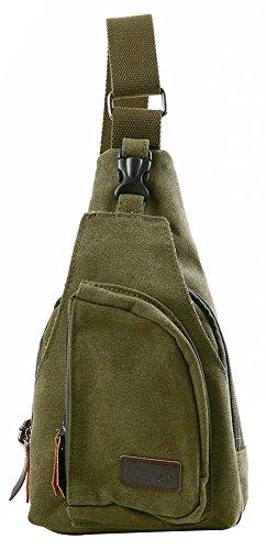 shot-in Vintage Handbag Messenger Shoulder Sling Crossbody Chest Bag (Army Green)