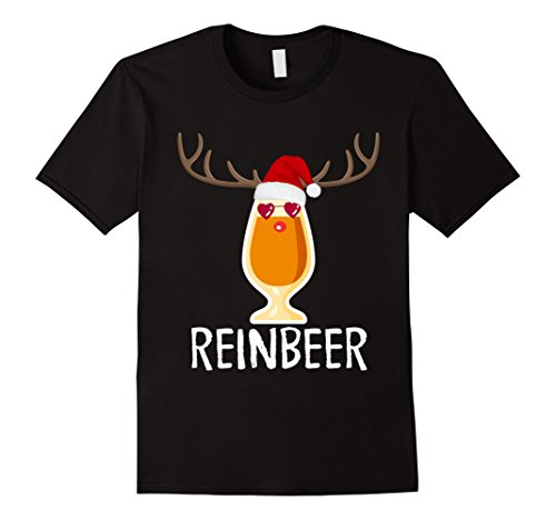Mens Reinbeer T-Shirt Funny Christmas Gift For Beer Lovers TShirt XL (Funny Holiday Onesie)