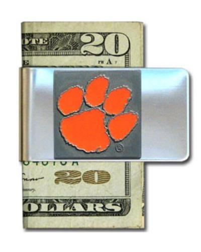 University Clemson Gift - Clemson University Steel Money Clip