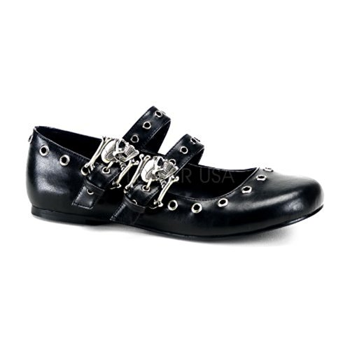 Demonia Daisy-03 - gotica punk bailerinas zapatos de tacón mujer - tamaño 36-43, US-Damen:EU-38 / US-8 / UK-5