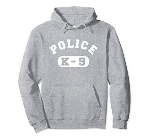 80's Movies Costumes (Unisex K-9 Police Officer Hoodie LEO Off Duty Cops Law Enforcement Large Heather Grey)