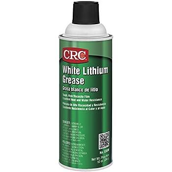 Crc 03080 White Lithium Grease Spray Net Weight 10 Oz