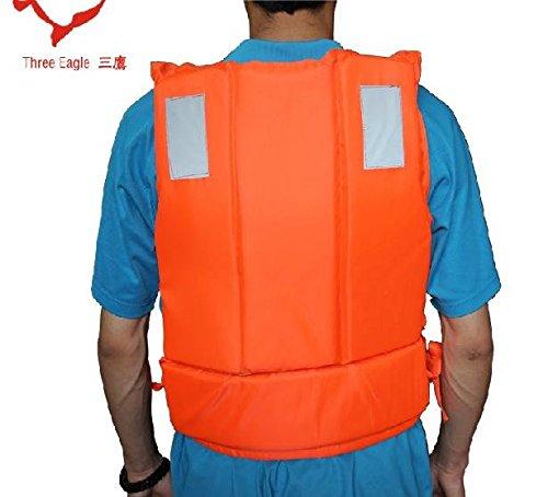 feamos新しい大人用オレンジFoam Flotation水泳ドリフトライフジャケットベストwithホイッスル
