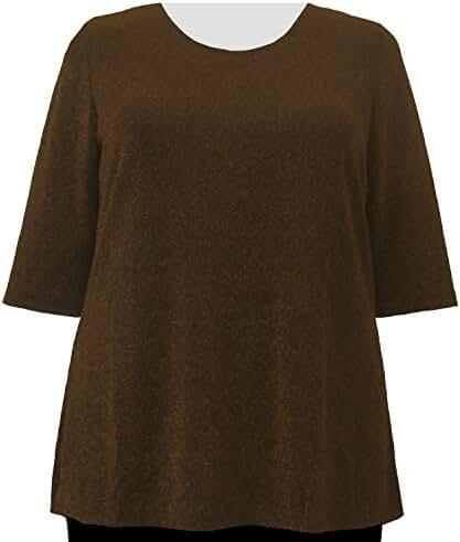 A Personal Touch Copper Sparkle Women's Plus Size Top