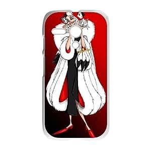 Motorola G White phone case Disney villains Cruella de Vil 101 Dalmatians DSV2553716
