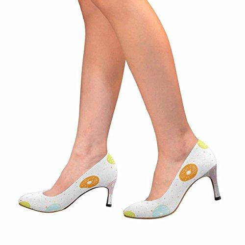 Modello Di Scarpe Da Donna Con Scarpe Tacco Alto, Modello Classico Con Ciambelle Smaltate Diverse