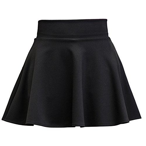 ZiXing Plisse Mini Jupe Taille Basique Haut Noir Party Femmes Cocktail Dames Skater Skirt pa4q4f6wy