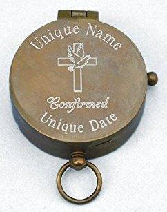 Amazon.com : Engraved Antique Brass Pocket Compass (Personalized ...