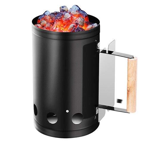 Chimenea carbón de leña Inicio parrilla barbacoa barbacoa chimenea más ligera cesta al aire libre cocción rápida rápido...