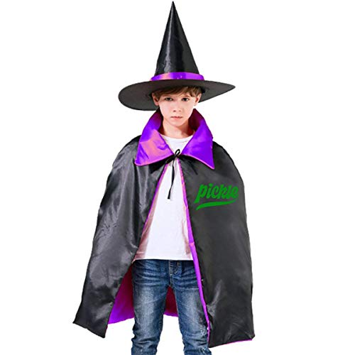 Halloween Children Costume Pickle Sour Food Wizard Witch Cloak Cape Robe And Hat Set ()