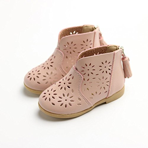 Princess Shoes,Coper Fashion Toddler Baby Girl Breathable Boot Shoes (Pink, US:5)
