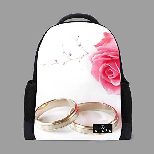 A lie. Cool Wedding Flower Kids Travel School Backpack with Mesh Side Pocket by A lie.