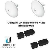 Ubiquiti Nanobeam M5 19dBi NBE-M5-19 2-PACK + airGateway airMAX Solution X2
