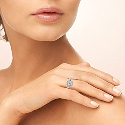 4862826d89406 Sterling Silver Dancing Round Love Knot Ring Made with Swarovski ...