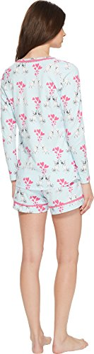 BedHead Women's Long Sleeve Sweetheart Two-Piece Shorts Set Puppy Love Medium by BedHead Pajamas (Image #2)