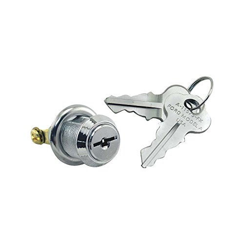 MACs Auto Parts 28-20858 Model A Ignition Switch - Pop Out Type - Head Only - Replacement Style With Keys