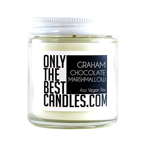 Smores Graham Cracker Chocolate and Marshmallow 4oz Candle