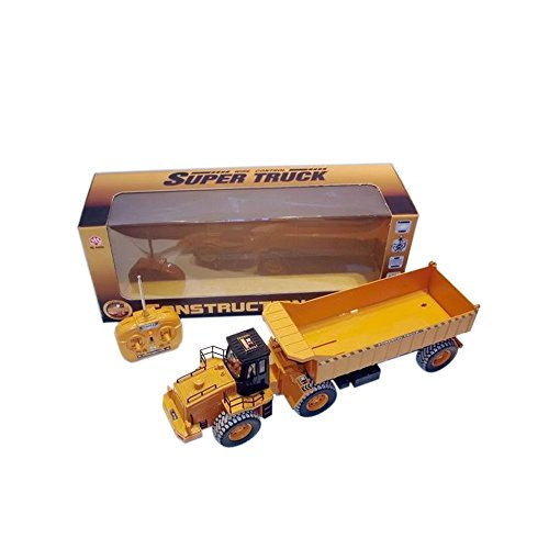 Azimporter 1: 18 6 Channel Rc Lifelike Construction Truck Yellow Toy Vehicle Kids Children